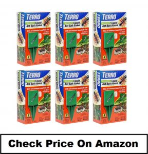 TERRO T1812 Pack of 6 stakes with liquid baits to kill ants