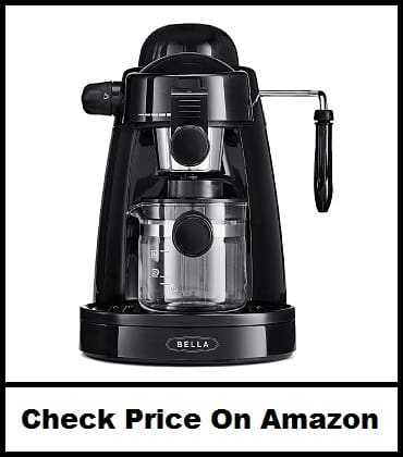 BELLA Personal Espresso Maker with Steam Wand