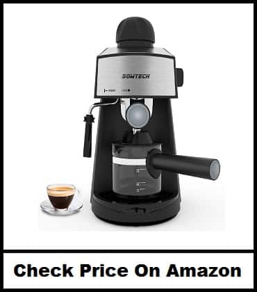 Espresso Machine 4 Cup Espresso Maker Cappuccino Machine
