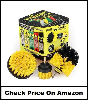 Drill Brush Attachment Set - Power Scrubber Brush Cleaning Kit