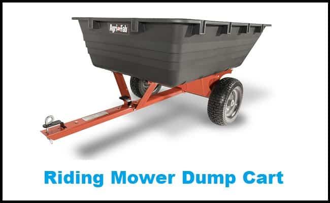 Riding Mower Dump Cart