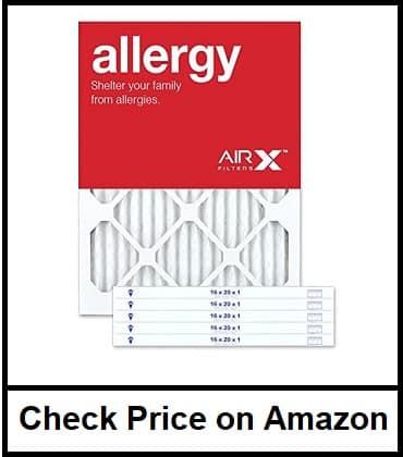 AIRx ALLERGY 16 20 1 MERV 11 Pleated Furnace Filter