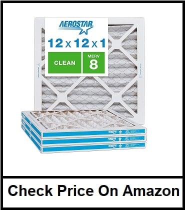 Aerostar Clean House 12x12x1 MERV 8 Pleated Air Filter