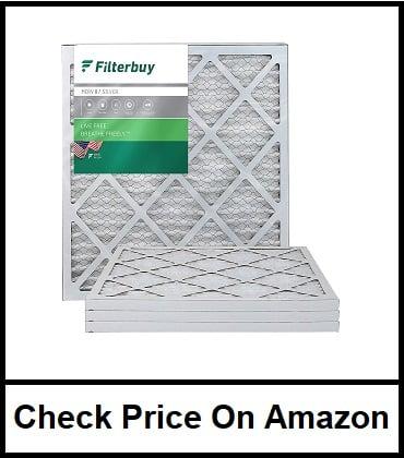 FilterBuy MERV 8 Pleated AC Furnace Filter