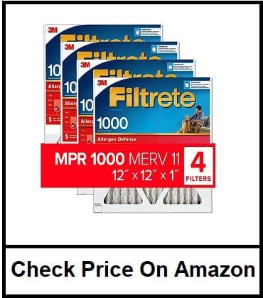 Filtrete 10x20x1, AC Furnace Air Filter, MPR 1000, Micro Allergen Defense