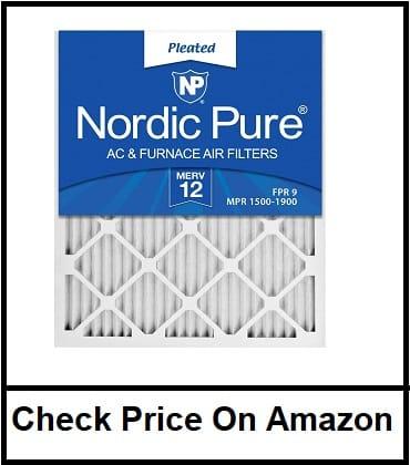 Nordic Pure 16x25x1 MERV 12 Pleated AC Furnace Filter
