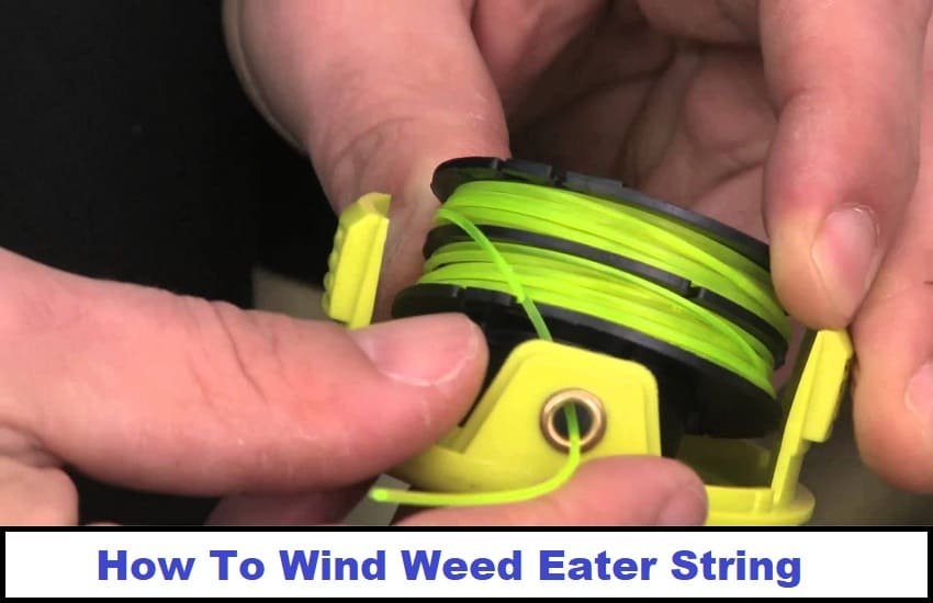 How To Wind Weed Eater String